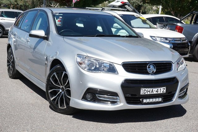 Used Holden Commodore VF MY15 SV6 Sportwagon Storm Phillip, 2015 Holden Commodore VF MY15 SV6 Sportwagon Storm Silver 6 Speed Sports Automatic Wagon