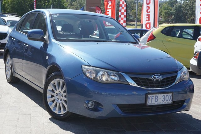 Used Subaru Impreza G3 MY08 R AWD Phillip, 2007 Subaru Impreza G3 MY08 R AWD Blue 4 Speed Sports Automatic Hatchback