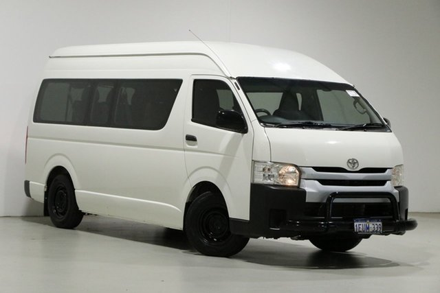 Used Toyota HiAce KDH223R MY14 Commuter Bentley, 2015 Toyota HiAce KDH223R MY14 Commuter White 5 Speed Manual Bus