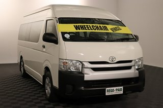 2016 Toyota HiAce TRH223R Commuter High Roof Super LWB French Vanilla 6 speed Automatic Bus.