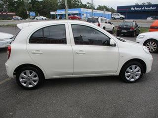 2012 Nissan Micra K13 Upgrade ST-L White 4 Speed Automatic Hatchback.