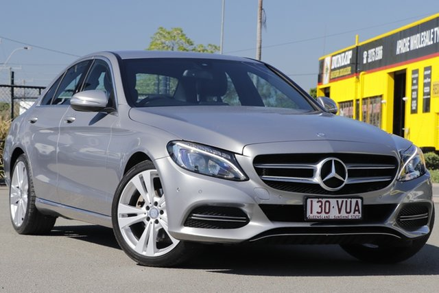 Used Mercedes-Benz C-Class W205 806MY C200 7G-Tronic + Rocklea, 2015 Mercedes-Benz C-Class W205 806MY C200 7G-Tronic + Palladium Silver 7 Speed Sports Automatic