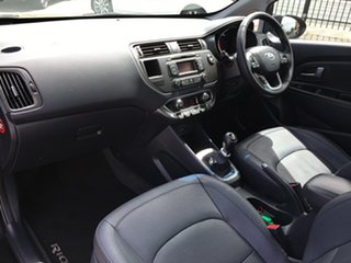 2011 Kia Rio UB MY12 SLS Black 6 Speed Manual Hatchback