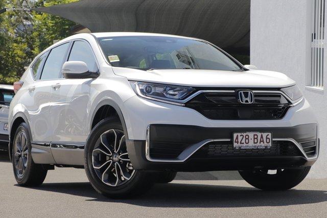 Demo Honda CR-V MY21 VTi X (2WD) 5 Seats Indooroopilly, 2021 Honda CR-V MY21 VTi X (2WD) 5 Seats Platinum White Automatic Wagon