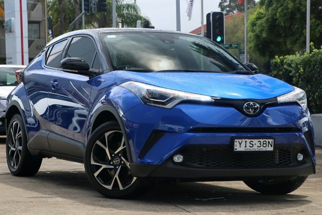 Pre-Owned Toyota C-HR NGX10R Koba S-CVT 2WD Mosman, 2019 Toyota C-HR NGX10R Koba S-CVT 2WD Nebula Blue & Black Roof 7 Speed Constant Variable Wagon