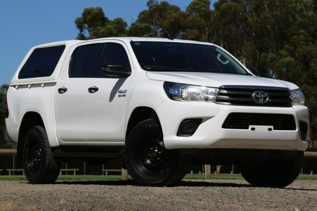 Used Toyota Hilux GUN126R SR Double Cab Clare, 2017 Toyota Hilux GUN126R SR Double Cab White 6 Speed Sports Automatic Utility