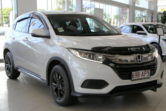 Demo Honda HR-V MY21 VTi North Lakes, 2020 Honda HR-V MY21 VTi Platinum White 1 Speed Constant Variable Hatchback