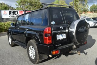 2009 Nissan Patrol GU 6 MY08 TI Black 4 Speed Sports Automatic Wagon.