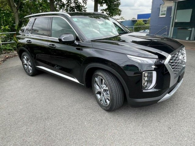 New Hyundai Palisade LX2.V1 MY21 Highlander 2WD Springwood, 2020 Hyundai Palisade LX2.V1 MY21 Highlander 2WD Timeless Black 8 Speed Sports Automatic Wagon