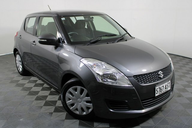 Used Suzuki Swift FZ GL Wayville, 2012 Suzuki Swift FZ GL Mineral Grey 5 Speed Manual Hatchback