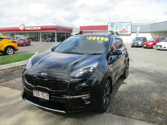 Used Kia Sportage QL MY19 GT-Line AWD North Rockhampton, 2018 Kia Sportage QL MY19 GT-Line AWD Black 8 Speed Sports Automatic Wagon