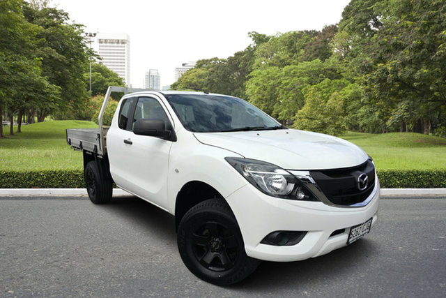 Used Mazda BT-50 UR0YG1 XT Freestyle 4x2 Hi-Rider Paradise, 2017 Mazda BT-50 UR0YG1 XT Freestyle 4x2 Hi-Rider White 6 Speed Sports Automatic Cab Chassis