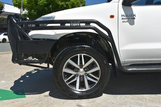 2013 Toyota Hilux KUN26R MY14 SR (4x4) White 5 Speed Manual Dual Cab Chassis