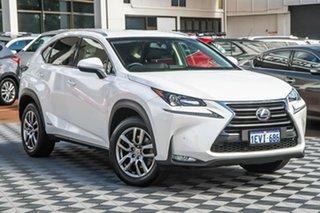 2015 Lexus NX AYZ10R NX300h E-CVT 2WD Luxury White 6 Speed Constant Variable Wagon Hybrid.