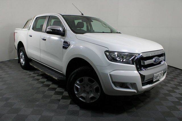 Used Ford Ranger PX MkII XLT Double Cab 4x2 Hi-Rider Wayville, 2015 Ford Ranger PX MkII XLT Double Cab 4x2 Hi-Rider White 6 Speed Sports Automatic Utility