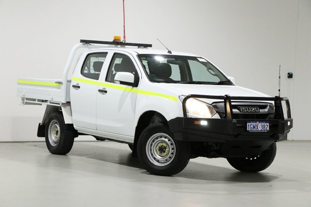 Used Isuzu D-MAX TF MY17 SX (4x4) Bentley, 2018 Isuzu D-MAX TF MY17 SX (4x4) White 6 Speed Automatic Cab Chassis