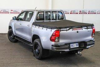 2016 Toyota Hilux GUN126R SR (4x4) Silver Sky 6 Speed Automatic Dual Cab Utility.