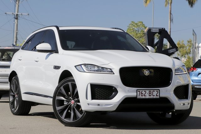 Used Jaguar F-PACE X761 MY20 Chequered Flag Rocklea, 2020 Jaguar F-PACE X761 MY20 Chequered Flag Yulong White 8 Speed Sports Automatic Wagon