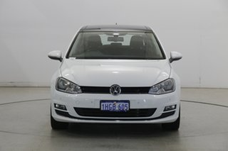 2014 Volkswagen Golf VII MY14 103TSI DSG Highline Pure White 7 Speed Sports Automatic Dual Clutch.