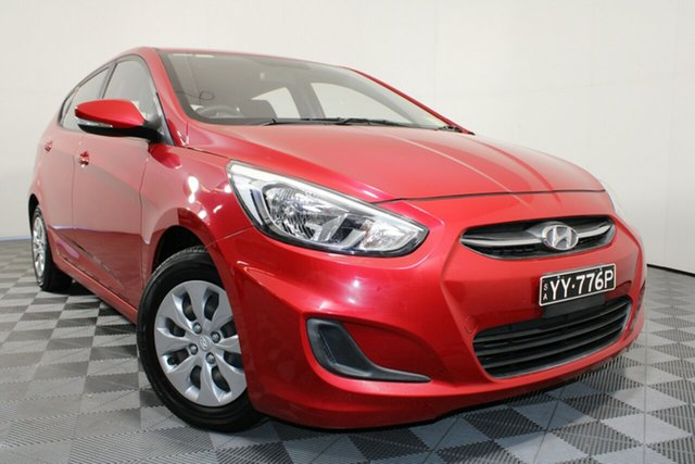 Used Hyundai Accent RB4 MY16 Active Wayville, 2016 Hyundai Accent RB4 MY16 Active Red 6 Speed Constant Variable Hatchback