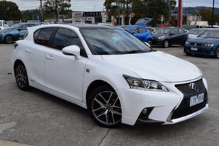2016 Lexus CT ZWA10R MY16 CT200h F Sport White 1 Speed Constant Variable Hatchback Hybrid.