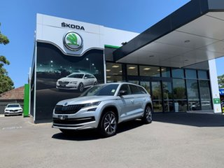 2020 Skoda Kodiaq NS MY20.5 132TSI DSG Sportline Silver 7 Speed Sports Automatic Dual Clutch Wagon.