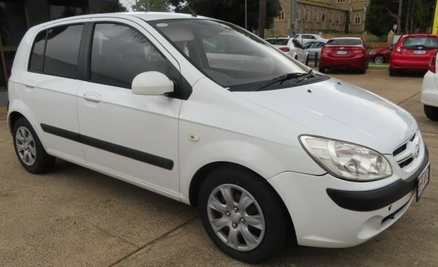 Used Hyundai Getz Toowoomba, 2007 Hyundai Getz White 5 Speed Manual Hatchback