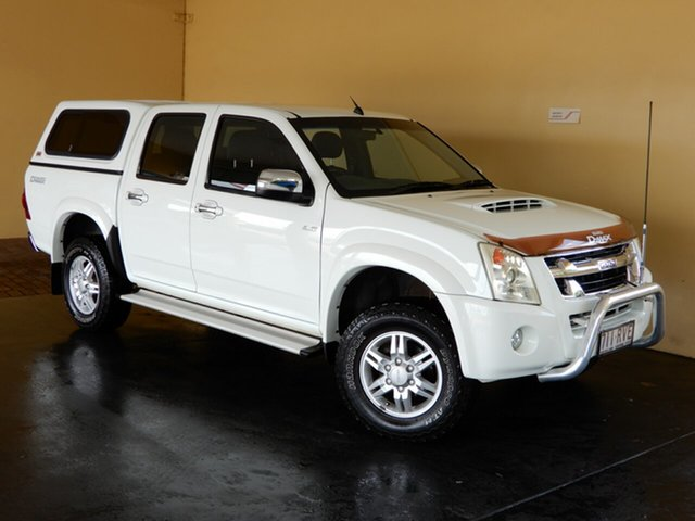 Used Isuzu D-MAX TF MY10 LS-U (4x4) Toowoomba, 2011 Isuzu D-MAX TF MY10 LS-U (4x4) White 5 Speed Manual Crew Cab Utility