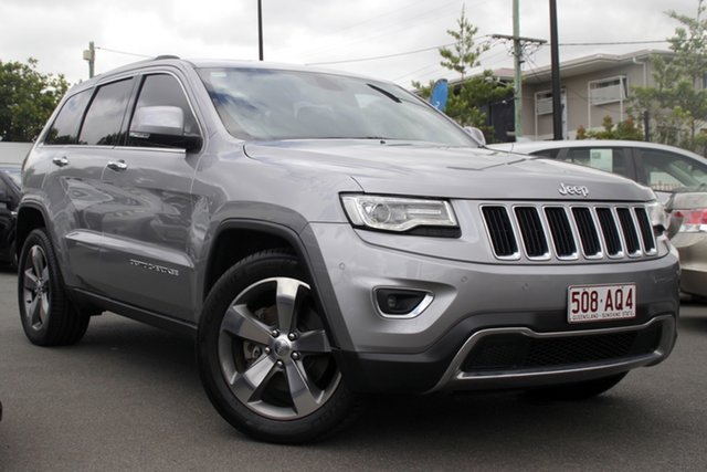 Used Jeep Grand Cherokee WK MY2014 Limited Mount Gravatt, 2014 Jeep Grand Cherokee WK MY2014 Limited Silver 8 Speed Sports Automatic Wagon