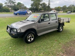 2002 Holden Rodeo TF MY02 LT Crew Cab Sports Grey 5 Speed Manual Utility.