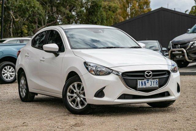 Used Mazda 2 DL2SAA Maxx SKYACTIV-Drive Mornington, 2018 Mazda 2 DL2SAA Maxx SKYACTIV-Drive Snowflake White Pearl 6 Speed Sports Automatic Sedan
