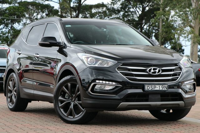Pre-Owned Hyundai Santa Fe DM3 MY17 Active X 2WD Warwick Farm, 2017 Hyundai Santa Fe DM3 MY17 Active X 2WD Black 6 Speed Sports Automatic SUV