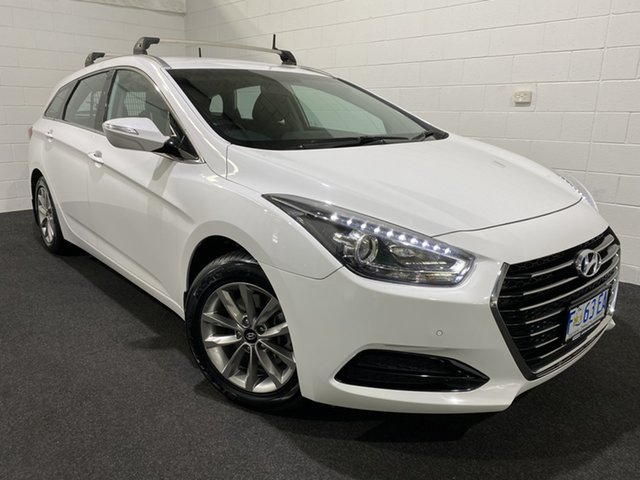 Used Hyundai i40 VF4 Series II Active Tourer Glenorchy, 2015 Hyundai i40 VF4 Series II Active Tourer Ceramic White 6 Speed Sports Automatic Wagon