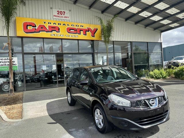 Used Nissan Dualis J10 Series II ST (4x2) Traralgon, 2011 Nissan Dualis J10 Series II ST (4x2) Purple 6 Speed CVT Auto Sequential Wagon