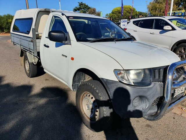 Used Mitsubishi Triton ML MY09 GL 4x2 Morphett Vale, 2009 Mitsubishi Triton ML MY09 GL 4x2 White 5 Speed Manual Cab Chassis