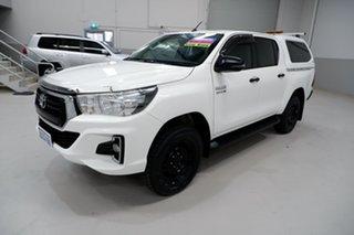 2019 Toyota Hilux GUN126R SR Double Cab White 6 Speed Sports Automatic Utility.