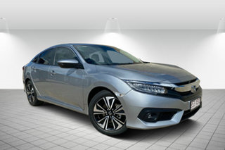2017 Honda Civic 10th Gen MY16 VTi-LX Silver 1 Speed Constant Variable Sedan.