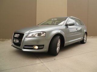 2012 Audi A3 8P MY12 Attraction Sportback S Tronic Silver Leaf Met 7 Speed.