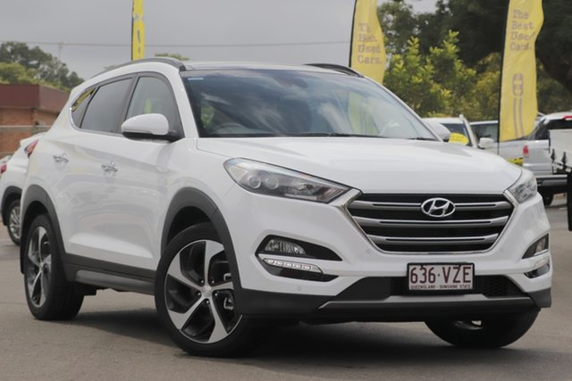 Used Hyundai Tucson TLE Highlander AWD Toowoomba, 2015 Hyundai Tucson TLE Highlander AWD Polar White 6 Speed Sports Automatic Wagon