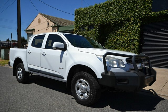 Used Holden Colorado RG LX (4x2) Blair Athol, 2013 Holden Colorado RG LX (4x2) White 6 Speed Automatic Crew Cab Pickup