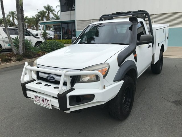 Used Ford Ranger PK XL Acacia Ridge, 2009 Ford Ranger PK XL White 5 speed Manual Cab Chassis