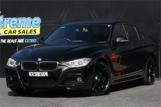 2012 BMW 3 Series F30 328i Black 8 Speed Sports Automatic Sedan.
