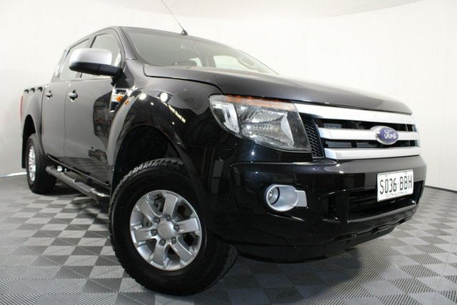 Used Ford Ranger PX XLS Double Cab Wayville, 2014 Ford Ranger PX XLS Double Cab Black 6 Speed Manual Utility