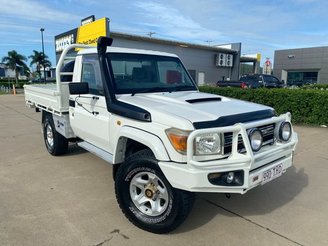 Used Toyota Landcruiser VDJ79R GXL Townsville, 2009 Toyota Landcruiser VDJ79R GXL White 5 Speed Manual Cab Chassis