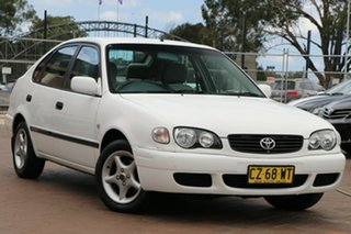 2000 Toyota Corolla AE112R Ascent Seca White 4 Speed Automatic Liftback.