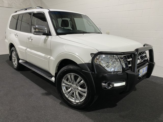 Used Mitsubishi Pajero NX MY15 GLX Glenorchy, 2015 Mitsubishi Pajero NX MY15 GLX White 5 Speed Sports Automatic Wagon