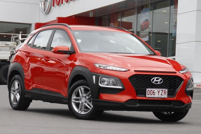 Pre-Owned Hyundai Kona OS.2 MY19 Active 2WD Woolloongabba, 2019 Hyundai Kona OS.2 MY19 Active 2WD Tangerine Comet 6 Speed Sports Automatic Wagon