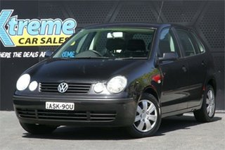 2004 Volkswagen Polo 9N MY2004 Match Black 5 Speed Manual Hatchback.