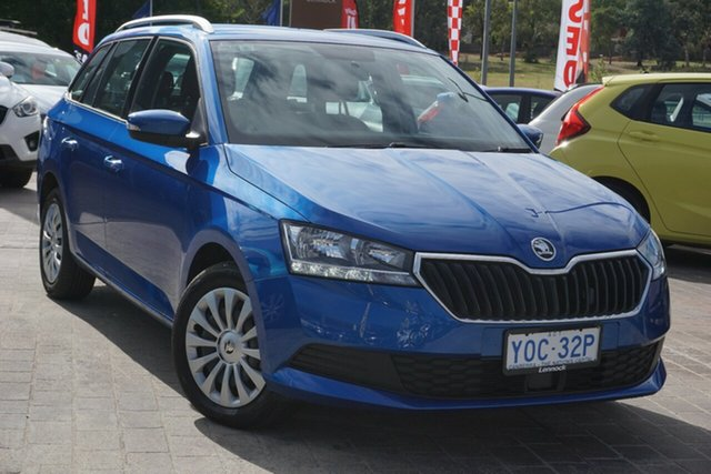 Used Skoda Fabia NJ MY20.5 81TSI DSG Phillip, 2020 Skoda Fabia NJ MY20.5 81TSI DSG Blue 7 Speed Sports Automatic Dual Clutch Wagon