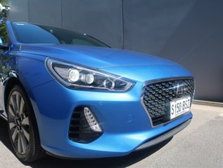 2017 Hyundai i30 PD MY18 SR D-CT Premium Blue 7 Speed Sports Automatic Dual Clutch Hatchback